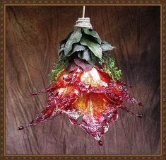 Fairy Wings Iridescent Rose LED Pendant