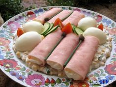 egycsipet: Tormás sonkatekercs Fresh Rolls, Food And Drink, Dairy, Cheese, Breakfast, Ethnic Recipes, Morning Coffee