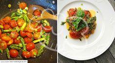 Low-Carb Quinoa-Gemüsepfanne Keto Coffee Recipe, Coffee Recipes, Bruschetta, Low Carb Recipes, Vegetarian, Stuffed Peppers, Vegetables, Super, Ethnic Recipes