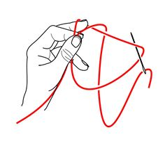 Needle Tatting Instructions | ... diagrams showing the two movements of the needle used as a shuttle