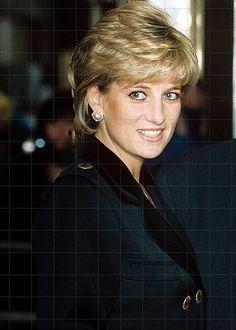 Beautiful in Black is Princess Diana