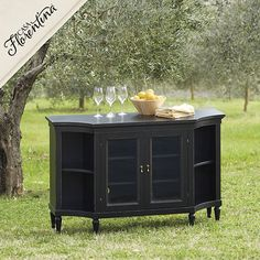 Betsy, this is a little less bulky, but not sure what all you have to store inside. This comes in many finishes.  Casa Florentina Arezzo Console