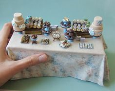 miniature dessert table