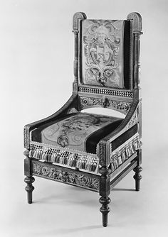 Chair  Made by Pottier and Stymus Manufacturing Company  (active ca. 1859–1910)  Date: ca. 1875 Geography: Mid-Atlantic, New York City, New York, United States Culture: American Medium: Black walnut