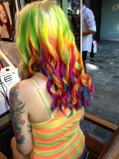 I would love you have this many colors in my hair at once! But it would be terrible when they faded together!