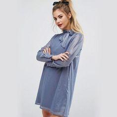 "102 curtidas, 4 comentários - F A S H I O N  U N I O N (@fashionunion) no Instagram: ""The dusty blue mini dress. Shop it at @asos #fashionunion"""