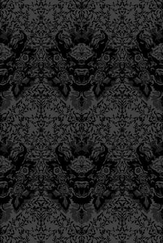 Devil Damask wallpaper from Timorous Beasties, as seen in BBC's Sherlock