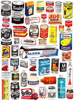 Vintage advertising and other cool retro stuff - found in my mother's basement, flea markets and various corners of the Internet - dusted off and displayed for your pleasure by Paula Zargaj-Reynolds. Retro Ads, Vintage Advertisements, Retro Food, Pub Vintage, Paper Toy, Vintage Packaging, Food Packaging, Packaging Design, Vintage Labels