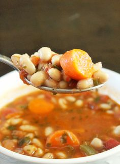 Bean and vegetable soup.