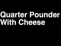 How to Pronounce Quarter Pounder Cheese McDonald's Hamburger Menu Nutrition Calories Monopoly Game Hamburger Menu, Mcdonald Menu, Mcdonald's Restaurant, How To Pronounce, Menu Items, Mcdonalds, Nutrition, Cheese