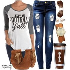Frugal Fashion Friday Ready for Some Football Outfit - a southern tailgate look for your Saturday Game on Frugal Coupon Living.