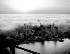 The City.  San Francisco in it's normal fog state!
