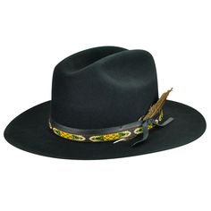 339590411ddd49 western weight wool felt cattleman crown 4 1/4