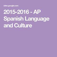 2015-2016 - AP Spanish Language and Culture