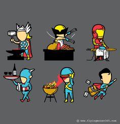 Tee Shirt Illustration (Q4 2012 - 1st Batch) by Chow Hon Lam, via Behance