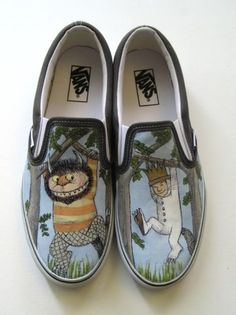 Where the Wild Things Are Custom Vans Shoes, $179.99, by stabbyvonkillerstein on Etsy