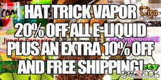ATTENTION JUICE JUNKIES! There's a new juice vendor on the block and there hooking up the GOTSMOK.COM community. Hat Trick Vapor is having a Customer Appreciation Sale. For a limited time... http://gotsmok.com