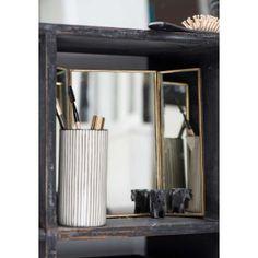 Smukt lille trefløjet spejl