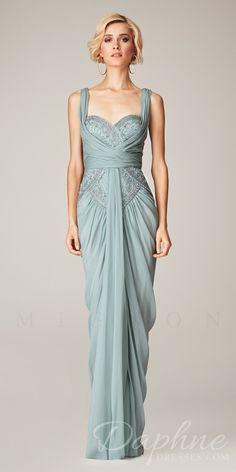 Mignon VM1162 Dress. Colors: Blue Mist, Mimosa. Size: 0-12