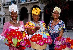 Traditional Caribbean Clothing | Stock Photo #1885-7901, Caribbean, Cuba, Havana, Girls in Local Cuban ...