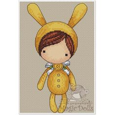 #mika__mila_katya #magic__dolls #crossstitch #вышивка @magic__dolls  Little Banny/Зайка 50*100 stitch, 17 DMC color, cross stitch, backstitch, french knot