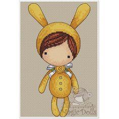 #mika__mila_katya #magic__dolls #crossstitch #вышивка @magic__dolls  Little Banny/Зайка 50*100 stitch, 17 DMC color, cross stitch, backstitch, french knot