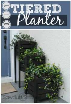 Tiered Planter Boxes - Sawdust 2 Stitches