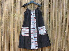 Japanese recycled kimono linen clothing handmade by LinenStudioB