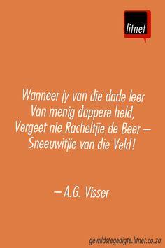 AG Visser #afrikaans #gedigte #nederlands #segoed #dutch #suidafrika