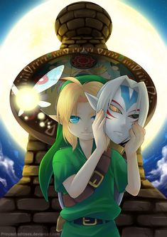 :Link: Majoras Mask by *PrinceOfRedroses on deviantART