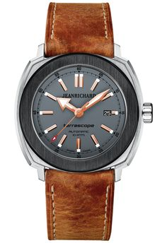 JeanRichard Terrascope Grey Matt Steel and Black DLC Steel Fancy Watches, Latest Watches, Pre Owned Watches, Watches For Men, Men's Watches, Jean Richard, Pink And Gold, Omega Watch, Rolex