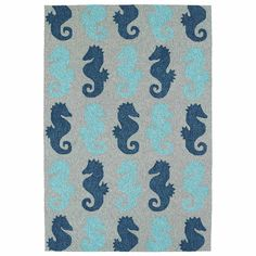 Kaleen Sea Isle Seahorse Hand Tufted Rectangle Accent Rug ($820) ❤ liked on Polyvore featuring home, rugs, rectangle rugs, rectangular rugs, rectangular area rugs and kaleen rugs