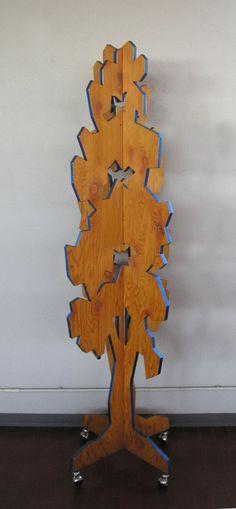 Clothes-tree 4 sheet 18 mm plywood - cm 60 x 60 x 180 h.