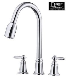 Danze D417017 Melrose Two Handle Kitchen Faucet With Pull Down Lever Handles    Chrome Danze D417017