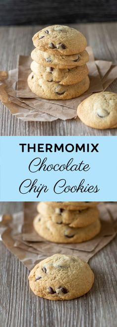 These Thermomix Chocolate Chip Cookies are the best chocolate chip cookies ever! They taste amazing thermomix, Thermomix Chocolate Chip Cookies Homemade Chocolate Chip Cookies, Perfect Chocolate Chip Cookies, Chocolate Chip Recipes, Chocolate Chocolate, Cookies Soft, Healthy Chocolate, Chocolate Pudding, 2 Ingredient Cookies, Sugar Cookies Recipe