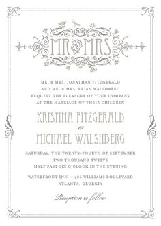 My Art Deco Wedding Invitation on Elli.com