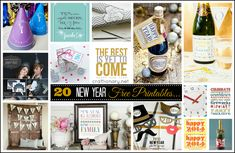 20 Free New Years Printables - Craftionary