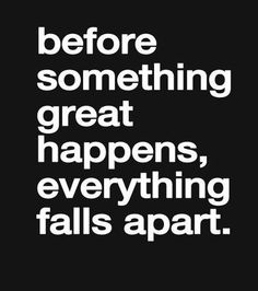 Something Great Happens - Inspirational Quote | Full Dose