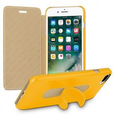 TETDED Premium Leather Case for Apple iPhone 7 Plus -- Dijon II (LC: Yellow) W/Stand