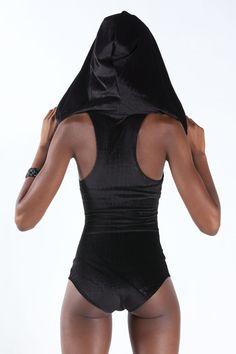 HALFBREED BODYSUIT Hood Black Velvet от MichelleUberreste