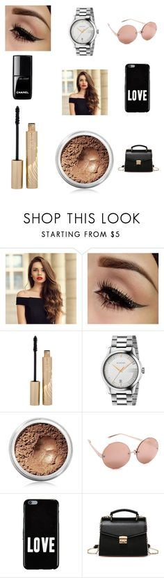 """""""Beautiful!!!"""" by rumaisa-hadia ❤ liked on Polyvore featuring beauty, Stila, Chanel, Gucci, Bare Escentuals, Linda Farrow and Givenchy"""