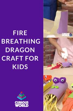 Celebrate Chinese New Year with your kids with the Fire-Breathing Dragon DIY project. Get the instructions in the Curious World App! Diy Craft Projects, Craft Ideas, Diy Crafts, Activities For Kids, Crafts For Kids, Fire Breathing Dragon, Dragon Crafts, Creative Kids, Chinese New Year