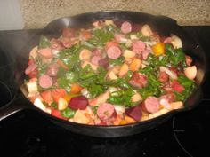 Venison Sausage with Pan-Grilled Veggies