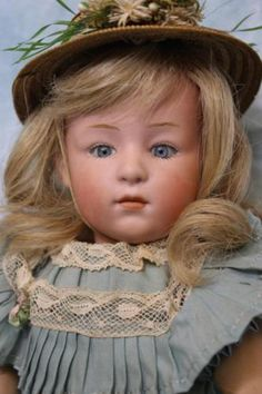 11-Inch-Glass-Eyed-Character-Doll-6970-Genruder-Heubach-Antique-Pouty-Character
