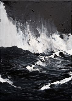 Werner Knaupp water ocean waves paintings inspiration blog