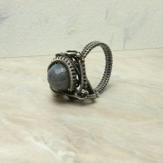 Arikko   silver wire wrapped ring with by MadeBySunflower on Etsy, $115.00