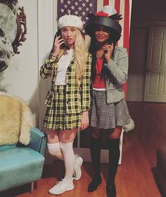 AS IF! Cher & Dionne #clueless #bff #halloween @kathleennb Rollin' with the homies
