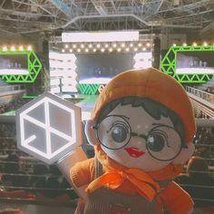 Park Chanyeol, Baekhyun, Plushies, Idol, Felt, Pattern, Projects, Instagram, Te Quiero