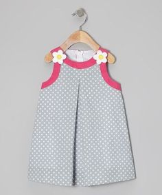 a look at this Light Blue Polka Dot Swing Dress - Toddler & Girls by Katie & Co.Take a look at this Light Blue Polka Dot Swing Dress - Toddler & Girls by Katie & Co. Kids Frocks, Frocks For Girls, Toddler Girl Dresses, Toddler Girls, Little Girl Dresses, Girls Dresses, Girl Dress Patterns, Kind Mode, Fashion Kids