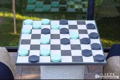 27 Best DIY Backyard Games Ideas and Designs for 2021 Board Game Table, Table Games, Board Games, Game Tables, Game Boards, Backyard Games, Backyard Projects, Outdoor Projects, Diy Projects